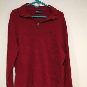 Polo by Ralph Lauren Sweaters - Polo Deep Red pull over